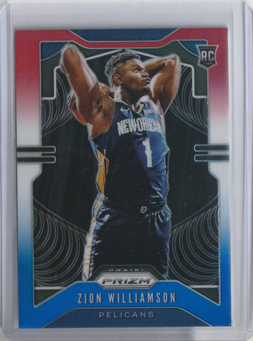 Zion Williamson 2019-2020 Panini Prizm Red, White, and Blue RC