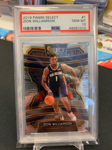 Zion Williamson 2019-20 Panini Select PSA 10 GEM MT