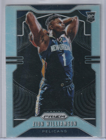 Zion Williamson 2019-20 Panini Prizm Silver RC