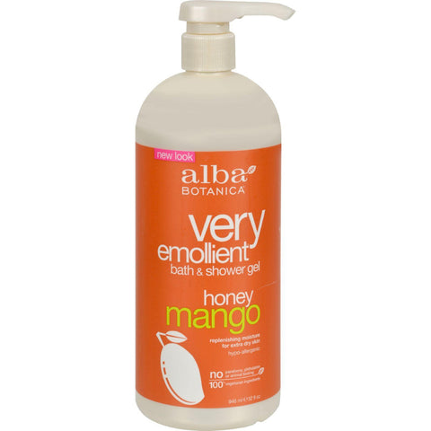 Alba Botanica Very Emollient Bath And Shower Gel Honey Mango - 32 Fl Oz
