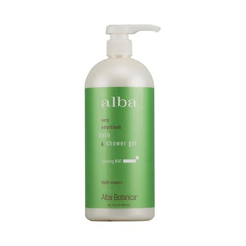 Alba Botanica Very Emollient Bath And Shower Gel Sparkling Mint - 32 Fl Oz