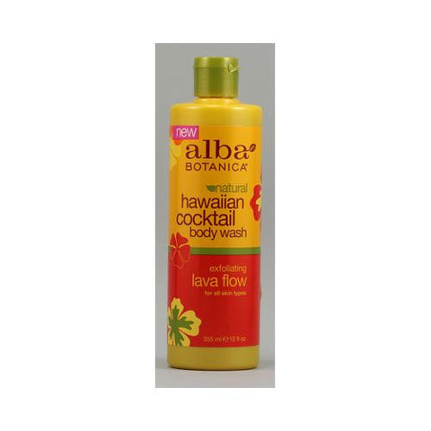 Alba Botanica Natural Hawaiian Cocktail Body Wash Lava Flow - 12 Fl Oz