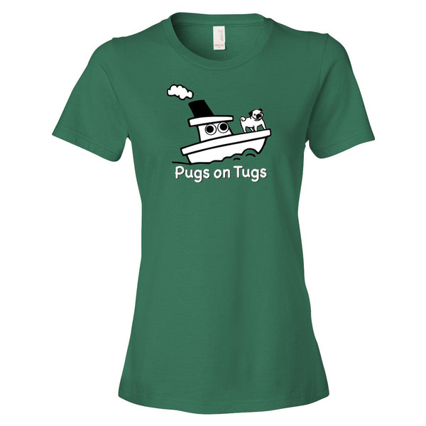 Pugs on Tugs™ short sleeve women's t-shirt