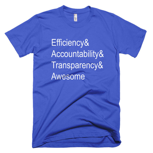 Efficiency & Awesome men's t-shirt