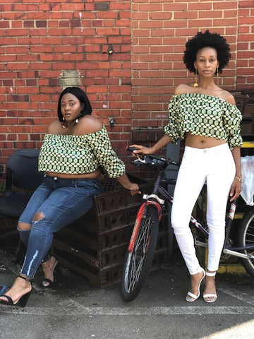 Collards & Cassava Crop Top