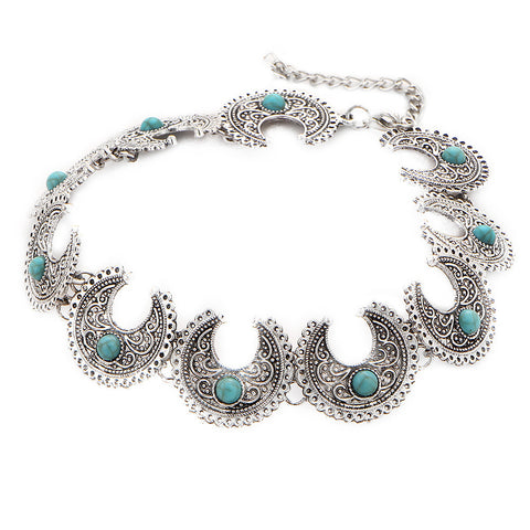 Xescent-Silver &  Summer Blue Choker