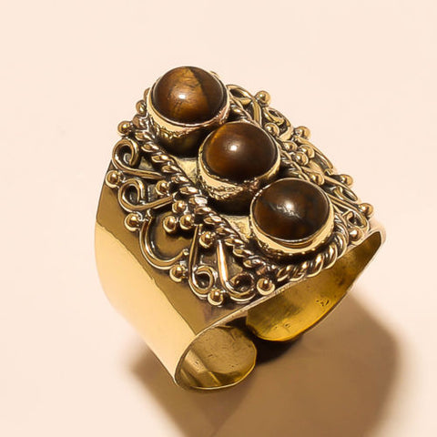 Brahma Adjustable Brass Ring