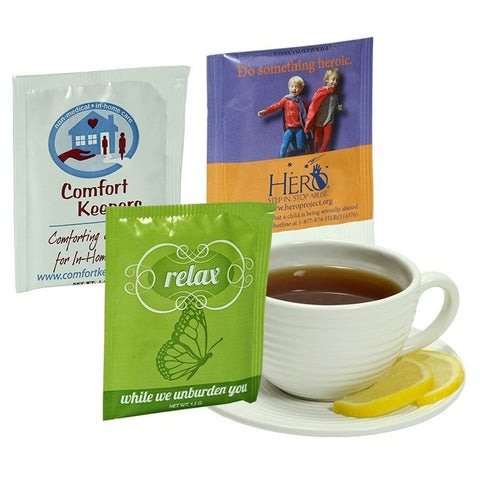 Individually Printed Four Color Tea Bag - Certified Organic Tea