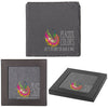 Natural Square Slate Coaster - Set of 4