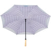 100% Recycled Inverted Plaid Umbrella