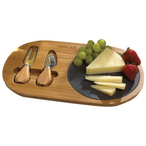 Slate and Bamboo Cheese Board