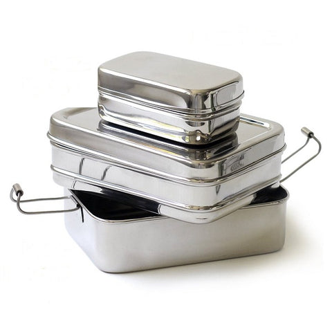 Stainless Steel 3 Piece Lunch Box Set