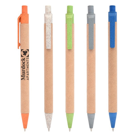 Pen Made with 35% Wheat Straw and Recyclable Paper