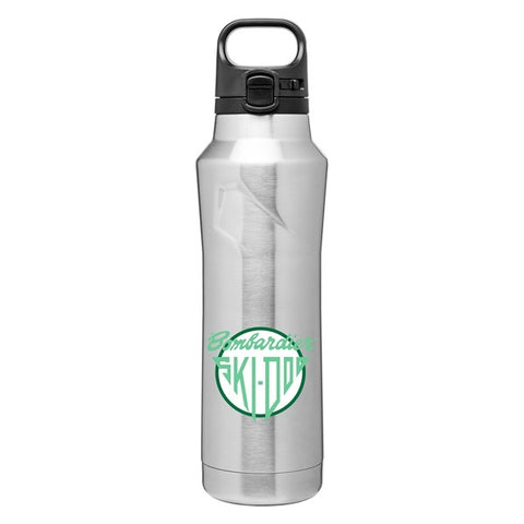 20.9 oz Stainless Steel Bottle With One-Touch Push-Button Lid