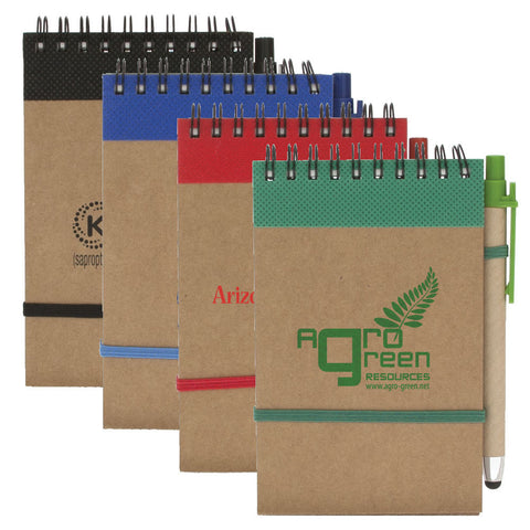 Colorful Recycled Jotter with Pen