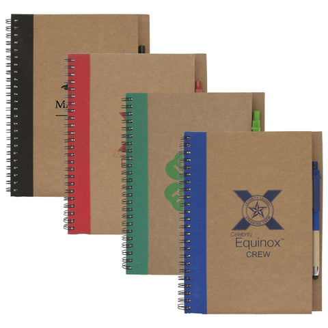 Colorful Recycled Notebook with Pen