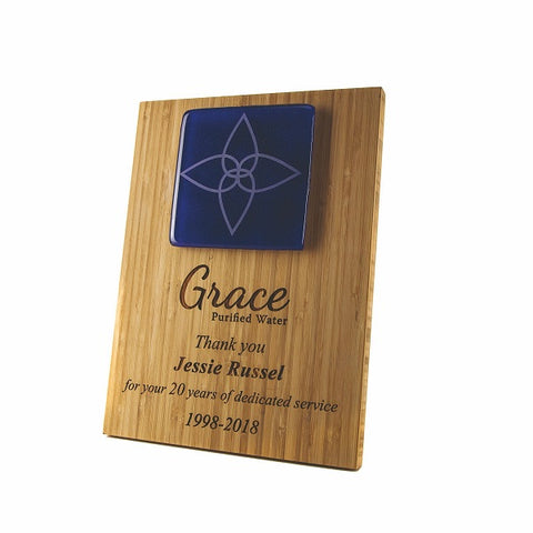 Bamboo & Recycled Glass Tile Award Plaque