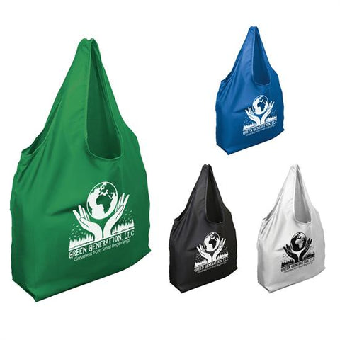 100% Recycled Polyester Foldable Tote