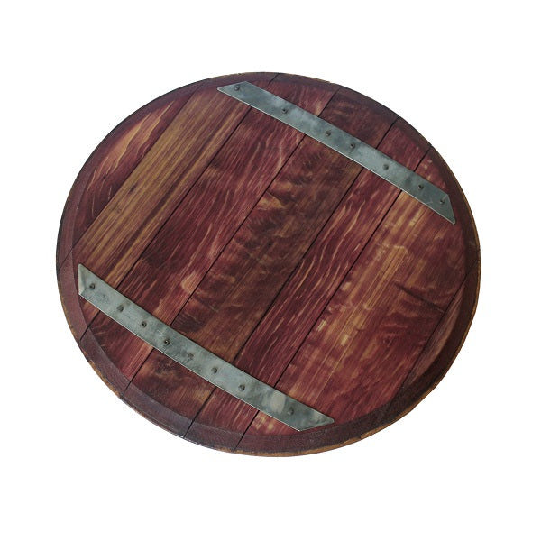Reclaimed Wine Barrel Top Lazy Susan Ecoplum Business Gifts