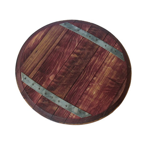Reclaimed Wine Barrel Top Lazy Susan