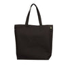 Natural Cotton Shopping Tote - Black