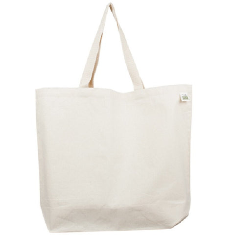 Lightweight Recycled Cotton Canvas Tote 19""