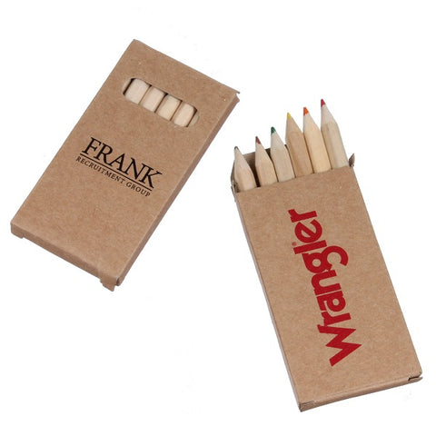 Wooden Coloring Pencil Set in Recycled Kraft Box