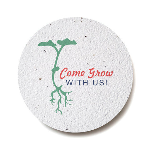 Seed Paper Wildflower Coasters - Multi Shapes & Sizes