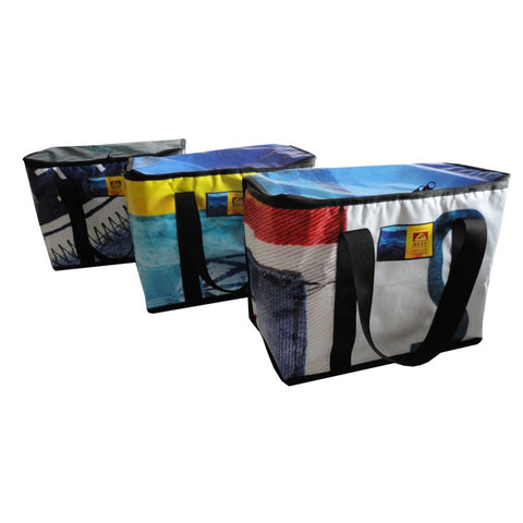 Cooler from Upcycled Billboards and Banners