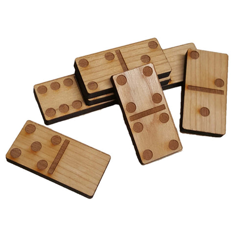 Engraved Wooden Dominoes