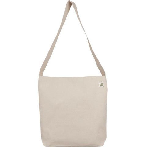 Recycled Cotton Sling Tote with Pocket and Magnetic Snap