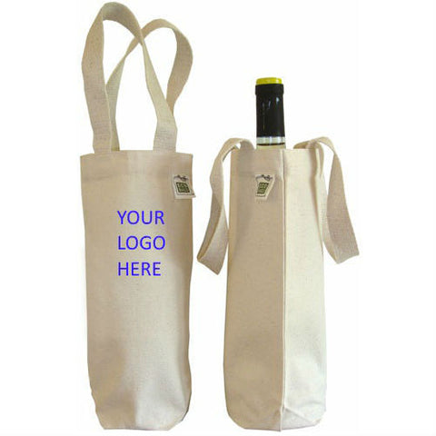 Recycled Cotton Canvas Wine Tote