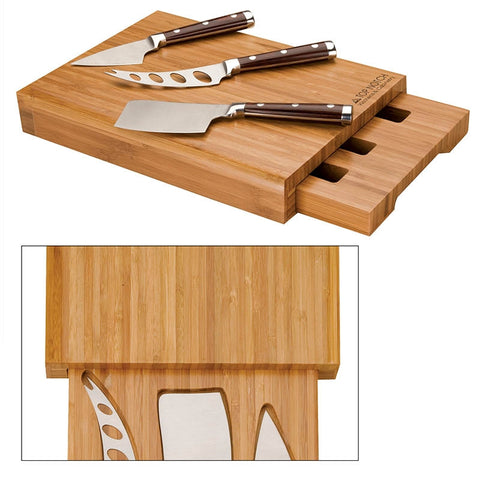 Deluxe Bamboo Cheese Set