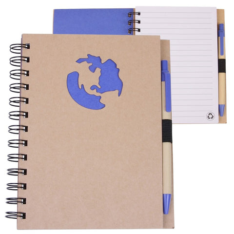 Earth Shape Recycled Notebook