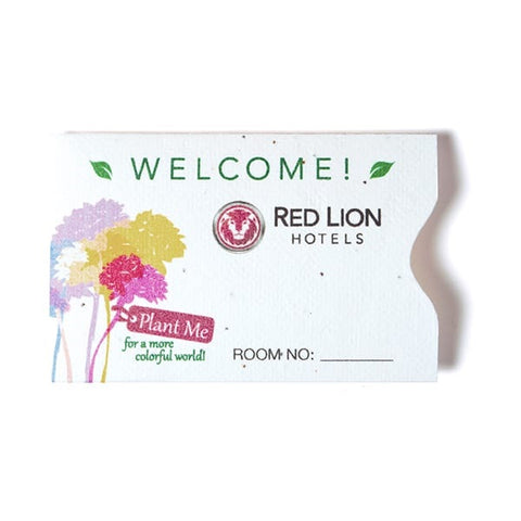 Plantable Seed Paper Gift Card Sleeve