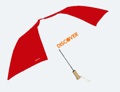 Auto Open Umbrella from 51% Recycled PET with Natural Wood Handle