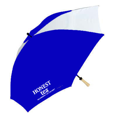 Vented Golf Umbrella from 51% Recycled PET with Natural Wood Handle