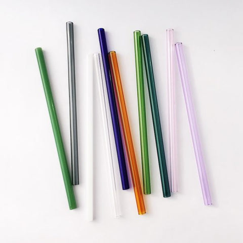 Reusable, Painted Glass Straw - Regular or Smoothie