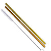 Gold and Rose Gold Stainless Steel Straight Straws - Set of 2