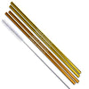 Gold and Copper Stainless Steel Straight Straws - Set of 4
