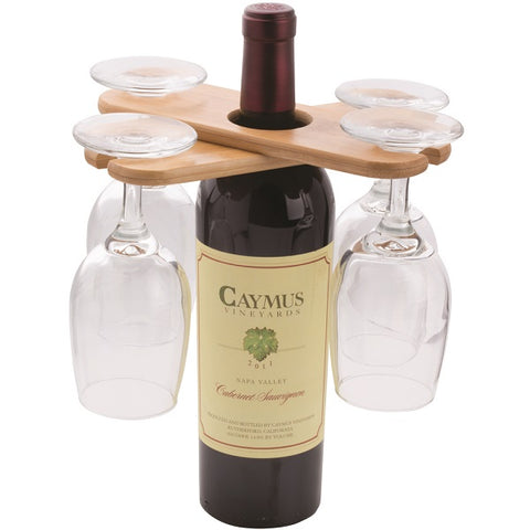 Bamboo Wine Butler - 4 Glass