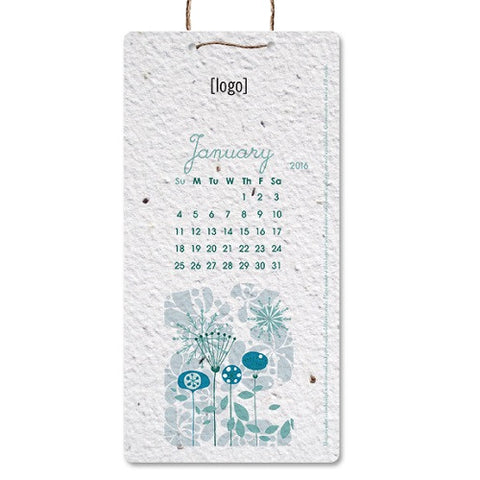 Seed Paper Hanging Calendar - Small or Medium