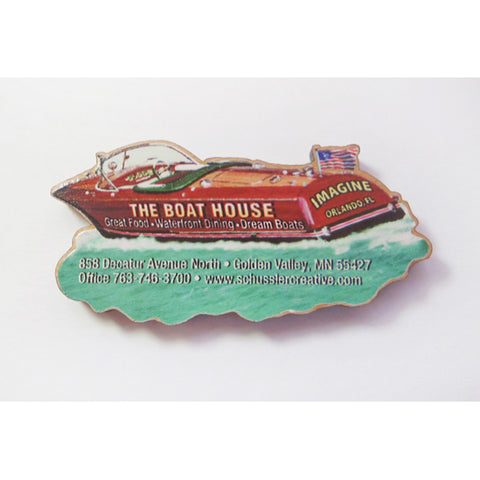 Color Print Hardwood Magnet