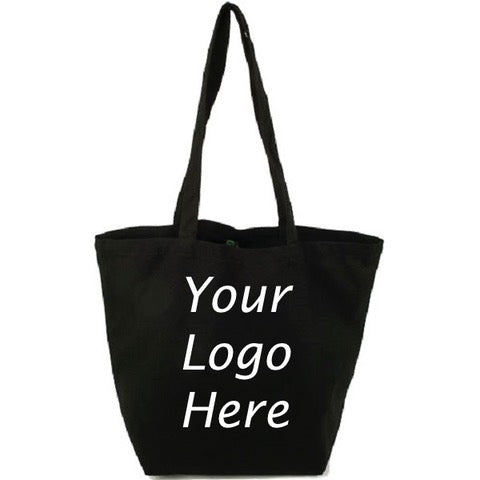 Classic Organic Cotton Canvas Tote - Black
