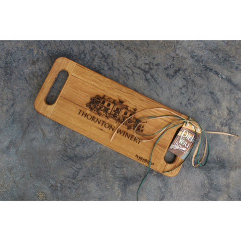 Recycled Wine Barrel Serving Board With Handles