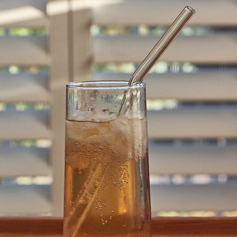 Reusable Etched Glass Straws - Bent, Iced Tea Size
