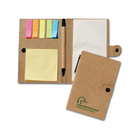Recycled Paper Jotter With Notes & Pen