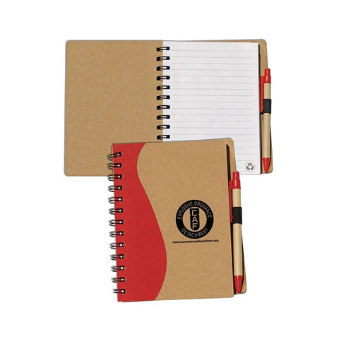 Recycled Paper Notepad With Cardboard Pen