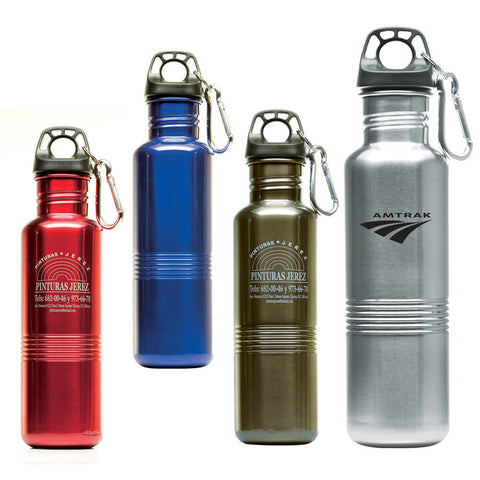 Stainless Steel Reusable Water Bottle with Screw Top