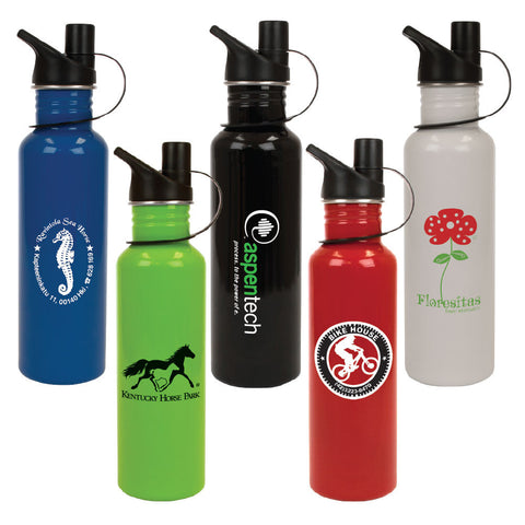 Stainless Steel Reusable Water Bottle with Sport Lid